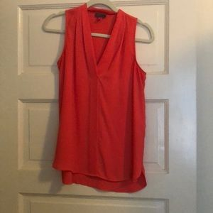 Coral Colored Chiffon Sleeveless Top